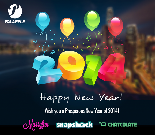 Wish you a Happy New Year of 2014!! - From @palapple, @snapshock and @marryfunapp http://t.co/E5nrnzAMpS