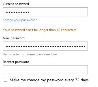 Dear Microsoft: so my MS account can't have a password longer than 16 characters. Is this to help NSA? http://t.co/bcgrtkQjpv
