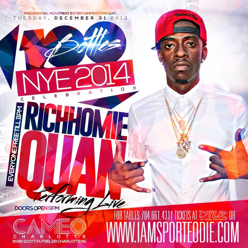 Charlotte NC NYE Im comn to shut the city the fuck down! Turn up with me at cameo . @sporteodie @danger_RUS http://t.co/w3nNgO6pQF
