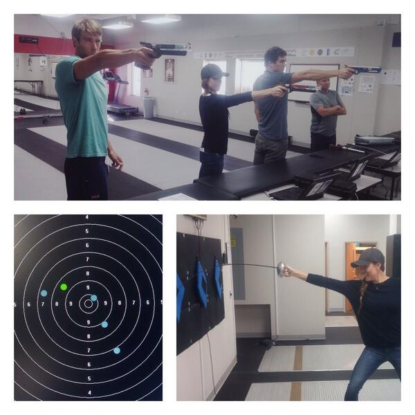 Got to play at the pentathlon facilities today. So much fun! http://t.co/npCcMdl2zk