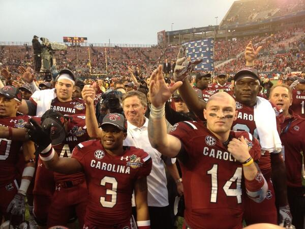 """""""@gogamecocks: Connor Shaw's final alma mater toast as a Gamecock. http://t.co/OkCWNTrJkt"""""""