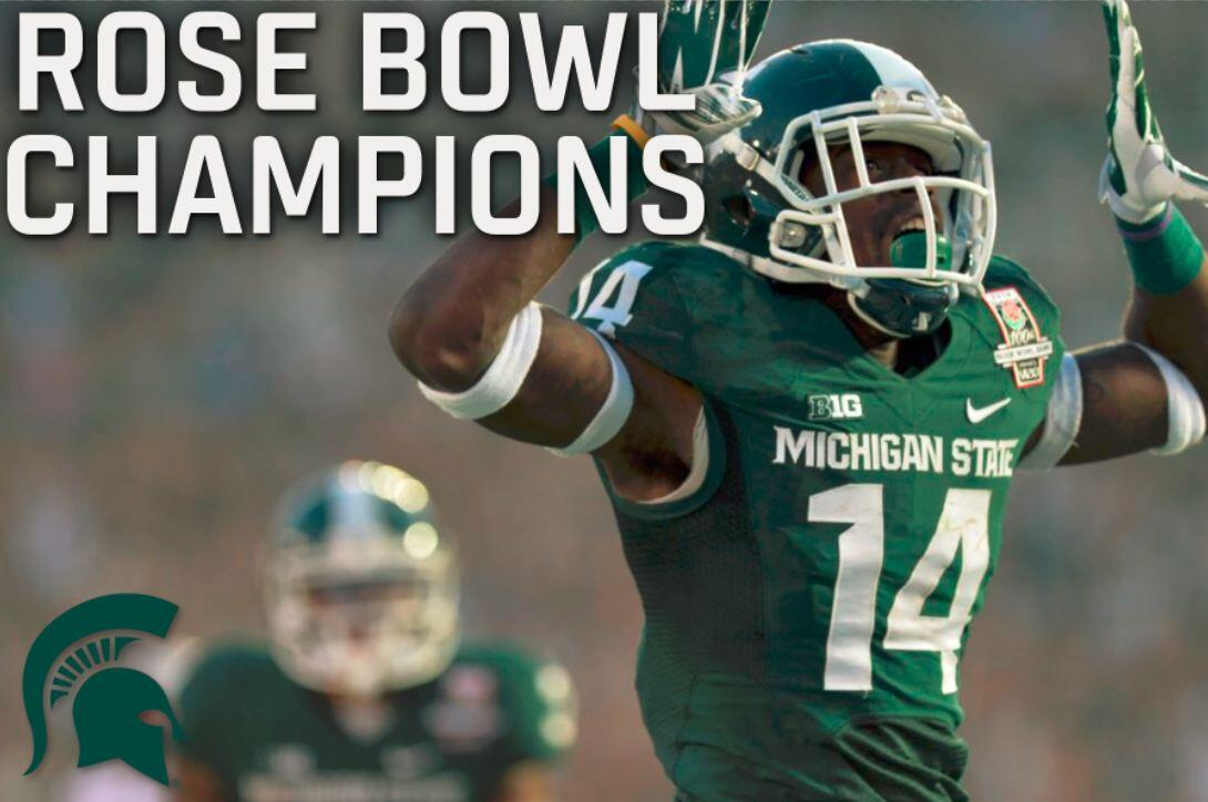 Roses are green in this year's #RoseBowl100 http://t.co/nFfCGXLPsU