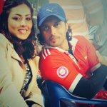With @AadarshBKrishna at CCC match in Vizag.. Will post some more pics with the team soon!!!! :) http://t.co/oXAHci1nNB