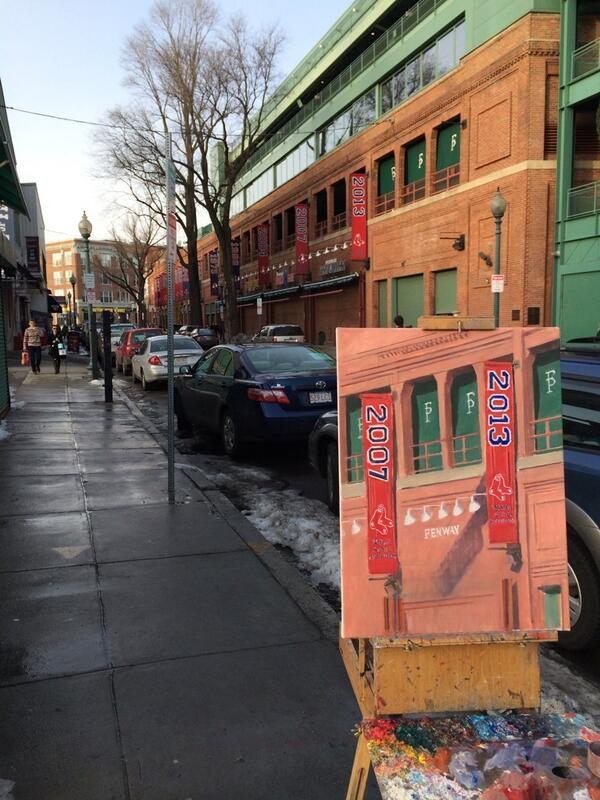 Painting Yawkey Way http://t.co/ho9v2WasWK