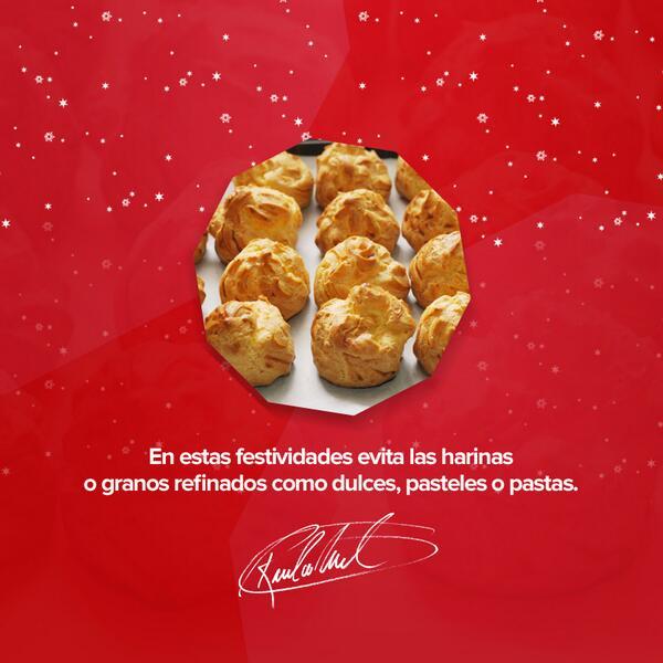 No nos descuidemos esta #Navidad, hay que tener un consumo moderado de harinas http://t.co/LY1UZnHf7c