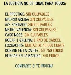 La justicia no es igual para todos. Comparte si te indigna. http://t.co/FFJt2yC0y5