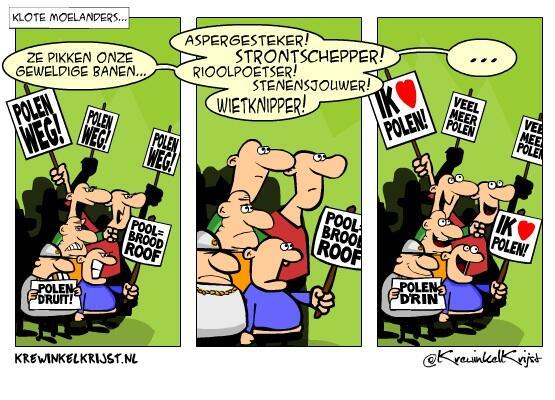 """Vervang """"Polen"""" door """"uitkeringsgerechtigden"""" en ik ben weer actueel... #cartoon #onRepeat http://t.co/HmtvmH9cTr"""