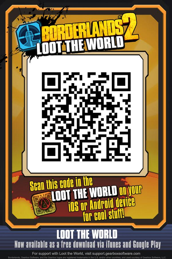 Qr For 2 Stamps Merry Christmas Borderlands2