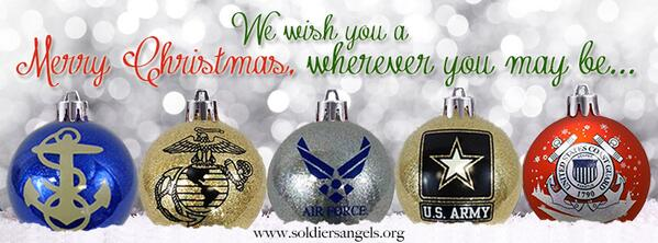 Wishing everyone a very Merry Christmas from Soldiers' Angels! #SupportOurTroops #Military http://t.co/mLOUL3IoFN