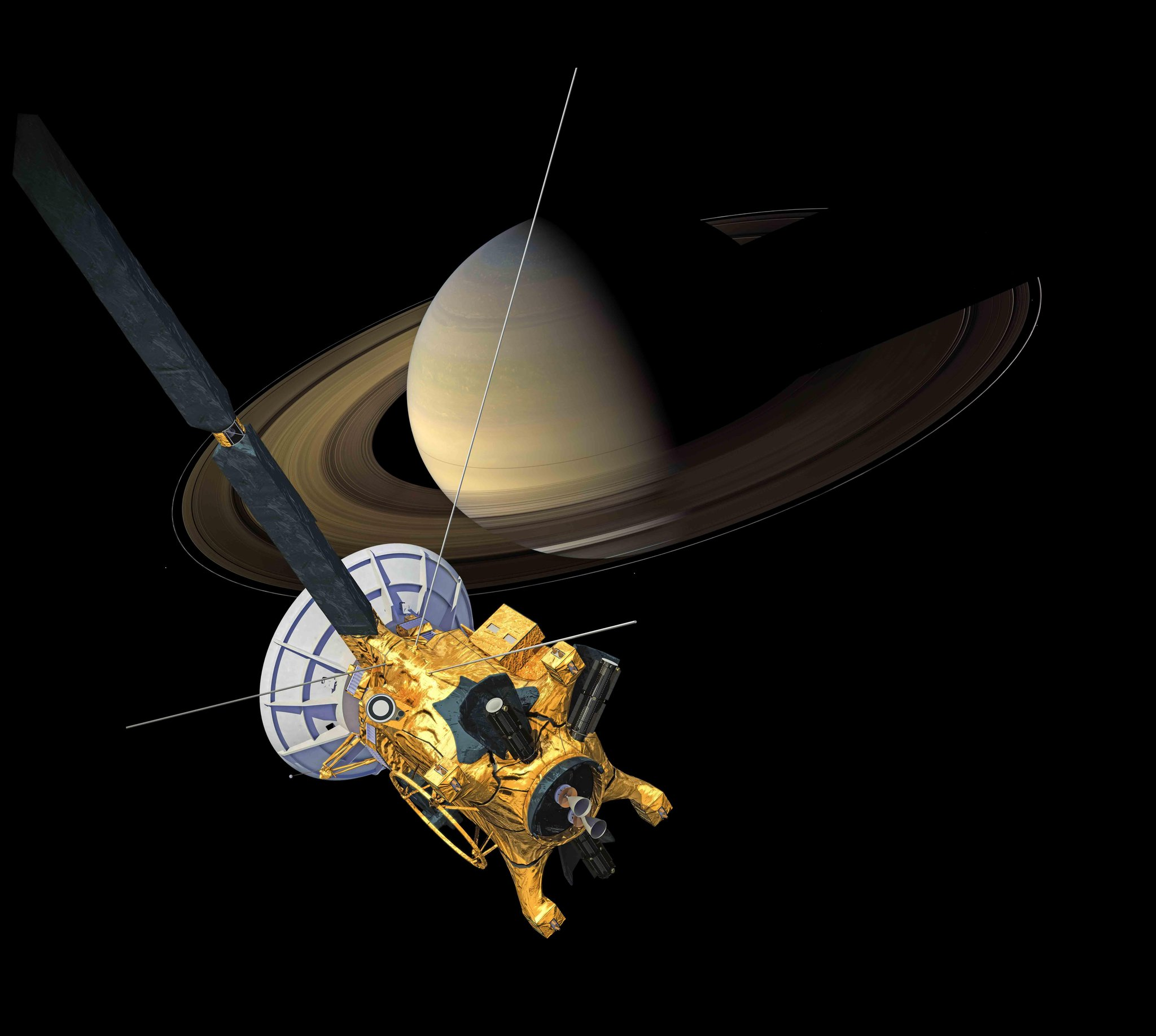 On the 9th day of Christmas, NASA History gave to me 9 years orbiting Saturn. (Thanks @CassiniSaturn )    http://t.co/SlDapmgBW2