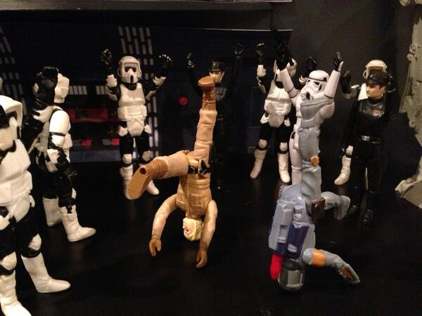 Found these in the attic today. Dance off at the Death Star! #starwars http://t.co/M2hzKJ9zVp