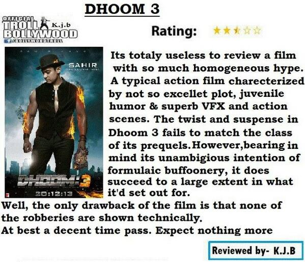 Audience ko khareedna bhool gaye re #OverHypedDhoom3 http://t.co/h6x5C3PVHB