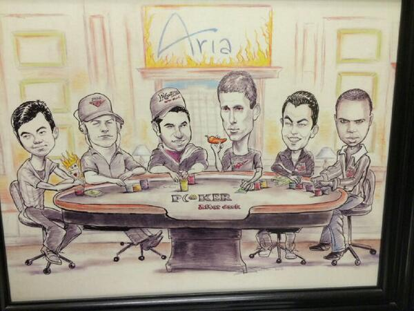 Also that article made me think of caricatures. This was done at a poker after dark cash game years ago http://t.co/BxYvXHfoWC
