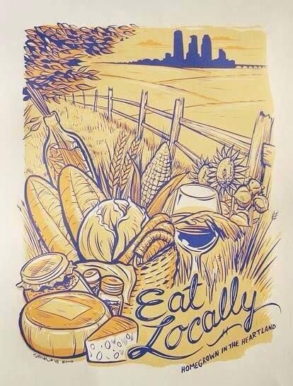 """Great Image: """"Eat Locally"""" http://t.co/y8kvHr4okp"""