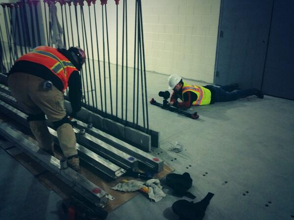 RT @robert_alberino: Working for @49ers is glamorous. Ask @wilblackwell who's laying out in dusty bowels of @LEVIS stadium for the shot. ht…