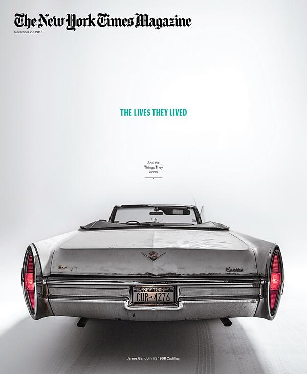 NEW COVER. LAST ONE OF 2013. THE LIVES THEY LIVED / FEATURING JAMES GANDOLFINI'S 1968 CADDIE. CHECK IT: http://t.co/1FhjhEl54m