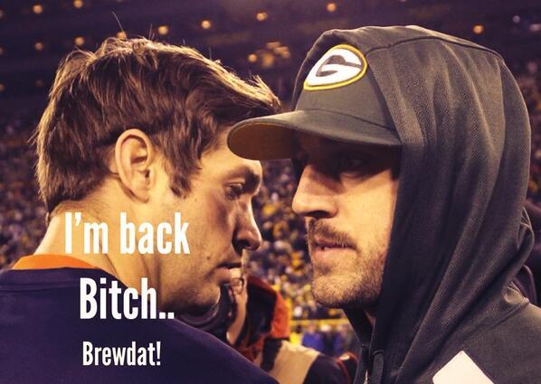 #BrewDat #Packers #GoPackGo #rodgers is back! http://t.co/1hnwkTjopZ