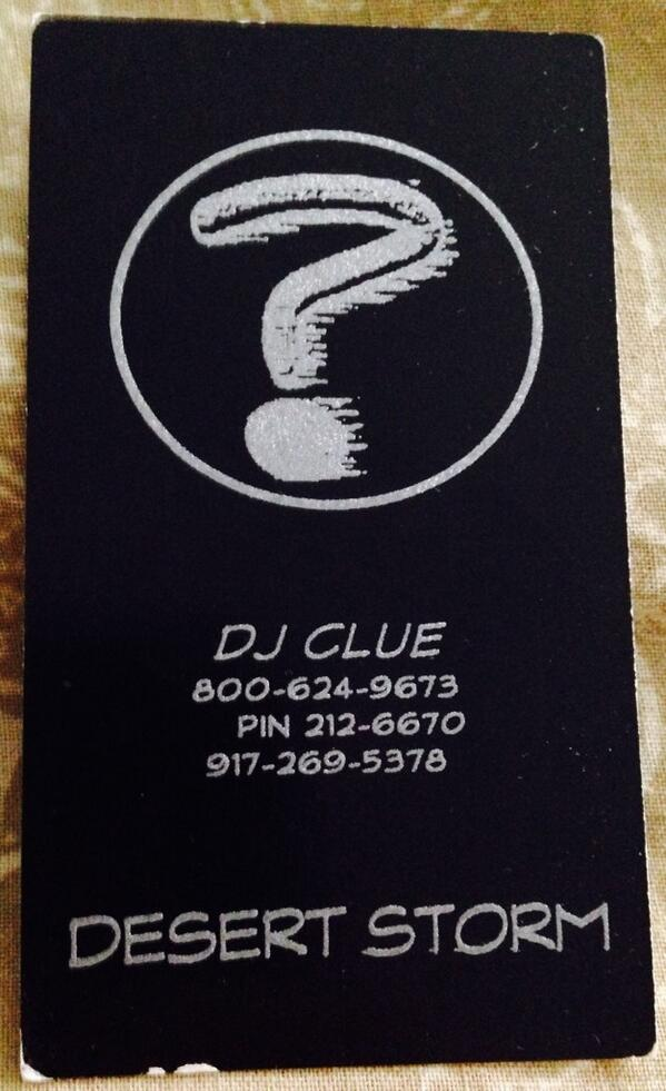 @DJCLUE I remember these days like it was yesterday. #tbt http://t.co/GYuriGxZYw