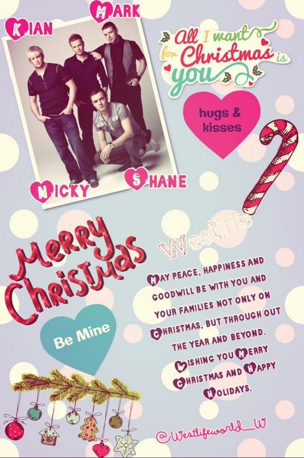 Merry Christmas to my top favorite band ever MY EVERYTHING @MarkusFeehily @ShaneFilan @nickybyrneoffic @KianEganWL http://t.co/TwzljlHNOn