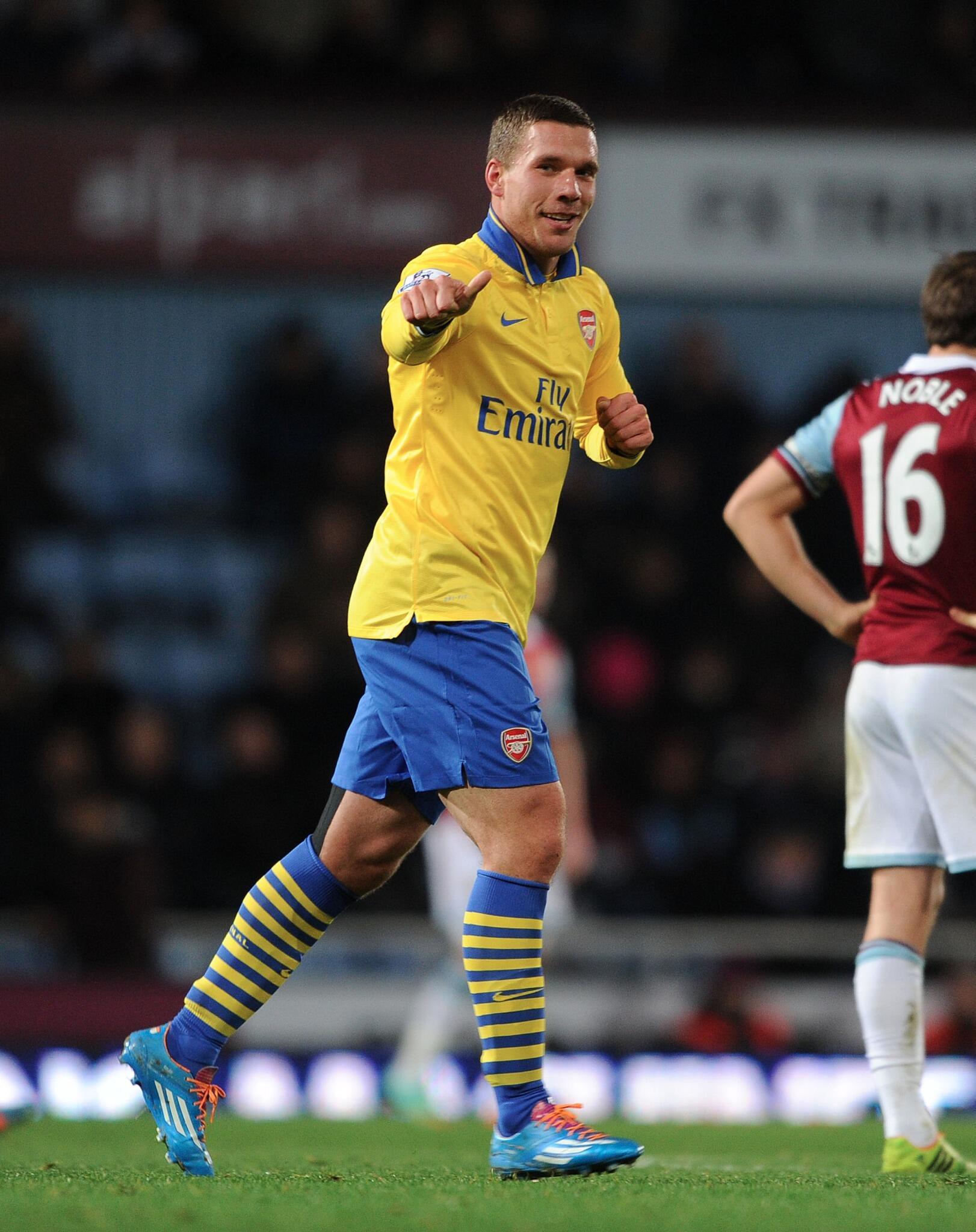 RT @Arsenal: ...@Podolski10 scores. Welcome back #Poldi. #Aha http://t.co/4lE0O2i50p