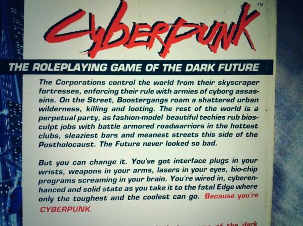 BECAUSE U R CYBERPUNK http://t.co/AY5d1pHGOR