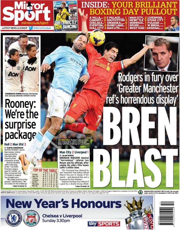 BccZIBNCMAA0PKM Media Bias! The Mirror attempt to smear Liverpools Suarez despite being fouled v Manchester City