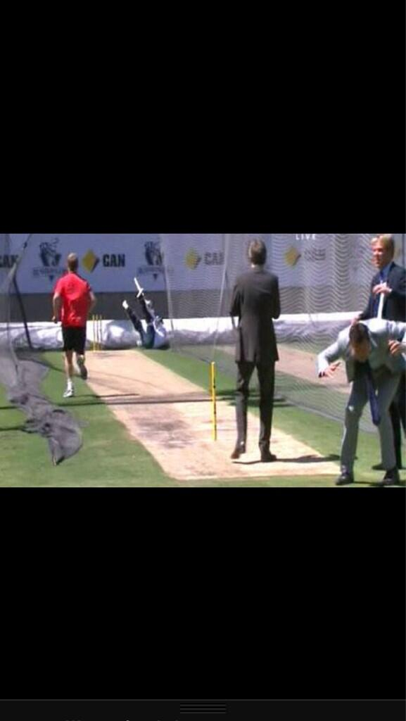 Watch Piers Morgan Get Whacked By A Cricket Ball Travelling At 90mph