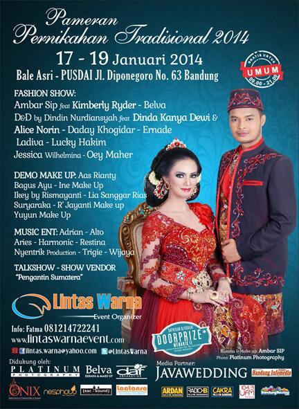 @ambarsip Pameran Pernikahan Tradisional 17-19 Januari 2014 at Bale Asri Pusdai. Free Entry http://t.co/KlwYyRa8YL
