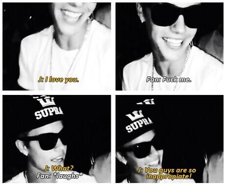 """#2013beliebermemories """"you guys are so inappropriate"""" hahah http://t.co/VsR0Hwpnth"""