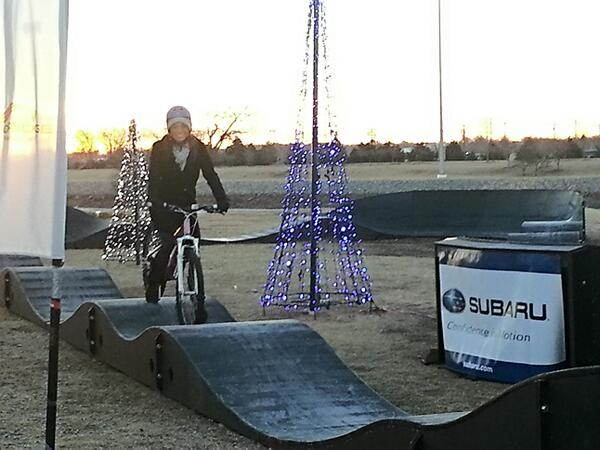 Ashley Kringen (@Ashleykringen): New Riversports Pump Track! Free to test out on Monday & Tuesday! Its tough but fun;) @OKCBHD @riversportokc http://t.co/FEQo3BzPlU