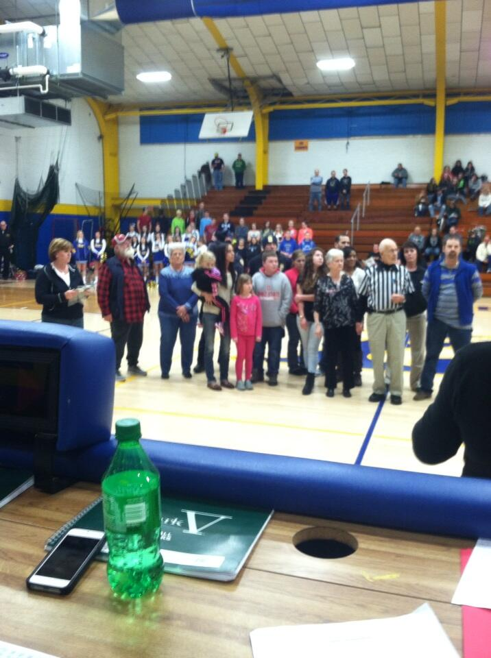 Wayne Robbins and family receiving 1st annual Ben & Patty Hersberger Award from the LHS Boosters http://t.co/xZk07kfjPb