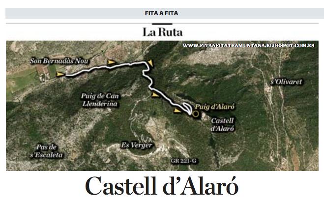 El #FITAaFITA d'avui ens du al Castell d' #Alaró. La fitxa sencera la trobau a la pàgina 23 del diari. Amb @Tronc96 http://t.co/XgzaufS1ec