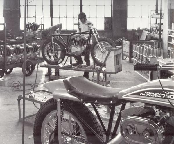 Inside the Harley Davidson factory, 1970 http://t.co/rd0AzU77MK