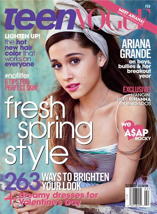 How pretty is @OliverElliot13's godmama @arianagrande on the cover of @TeenVogue ? http://t.co/ctjd86oNRf