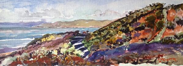 Surfers deciding where to brave the chill. #woolacombe #stevepp #watercolour http://t.co/AGCHZb5rxb