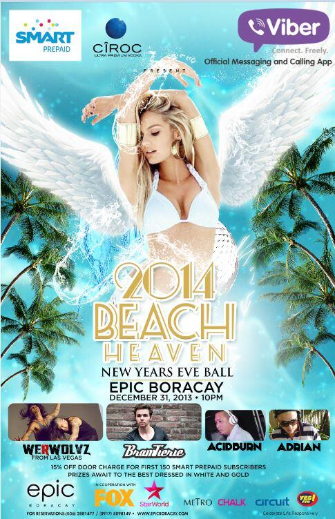 Celebrate the most happening NYE Party in Boracay at EPIC! For tickets and reservations, call/text 09178098149 http://t.co/QipqPxsbtg