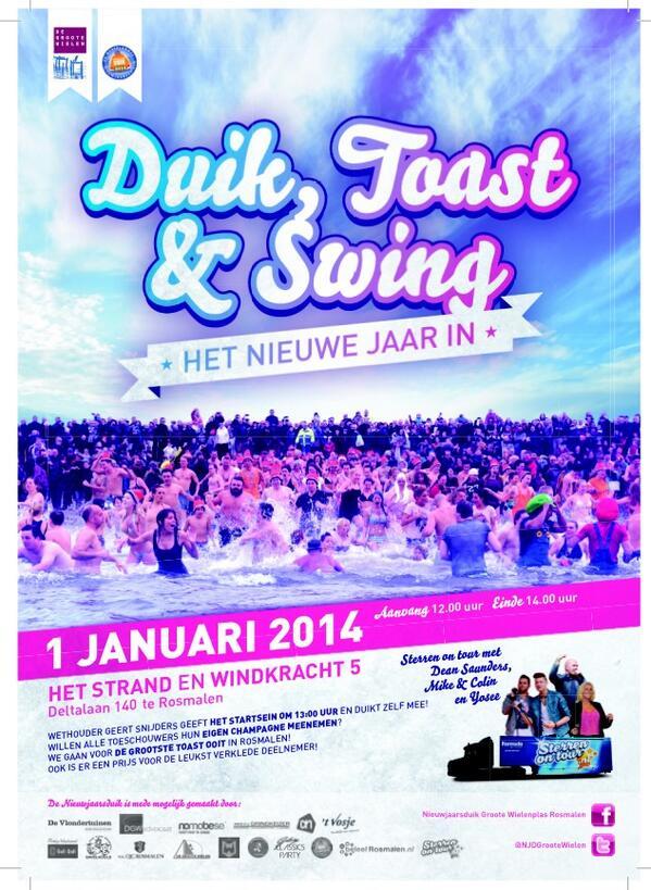 @RoyGeers 01-01-2014 om 12 uur - Kom je ook duiken, toasten en swingen! #Nieuwjaarsduik #Grootewielenduik #Rosmalen http://t.co/ewp9GNNWT9