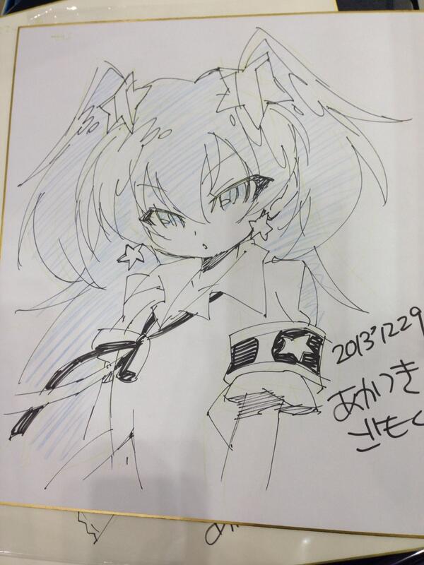 昨日コミケ会場で描いたせいらちゃん #geneitaiyo