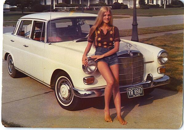 Mercedes-Benz and owner, 1970's http://t.co/littK5g8CH
