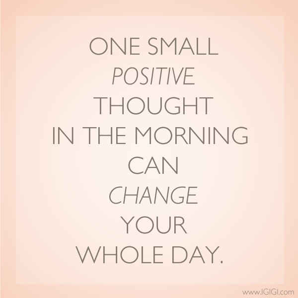#MotivationalMondays: One small positive thought in the morning can change your whole day. http://t.co/6IqejZQMQt