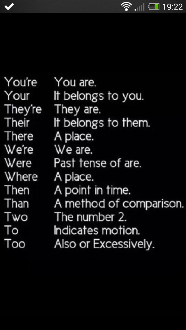 A handy guide for those of you that are grammer confused ..... http://t.co/IhZFE9cGDV