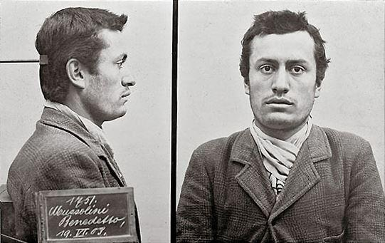 Mugshot of Benito Mussolini, arrested by Swiss police, 1903 http://t.co/UJ51jtXi4j