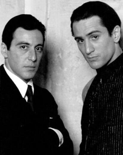 Al Pacino and Robert De Niro '72 http://t.co/dnecQDajjd