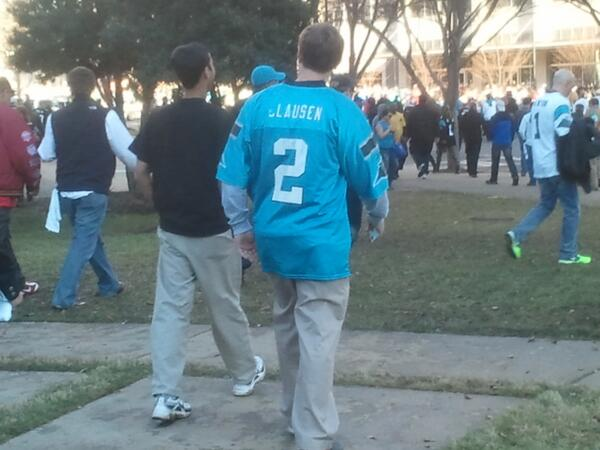 Actually spotted the best/worst obscure jersey on my way out of #49ers #Panthers...and nothing else came close: http://t.co/FswtdToePh