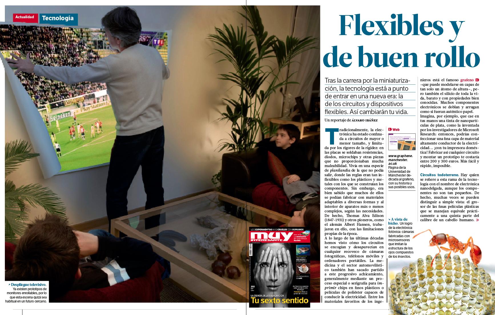 La revolución de la electrónica flexible (por @Alvy en la revista @muyinteresante de enero) http://t.co/oizNsw4zvX
