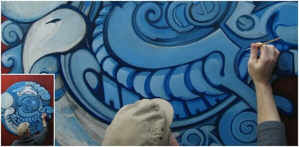 Tsunami Oil painting on canvas 4ft x 5ft (work in progress) #wip #jamesday #artist http://t.co/LE2VtRaHQG