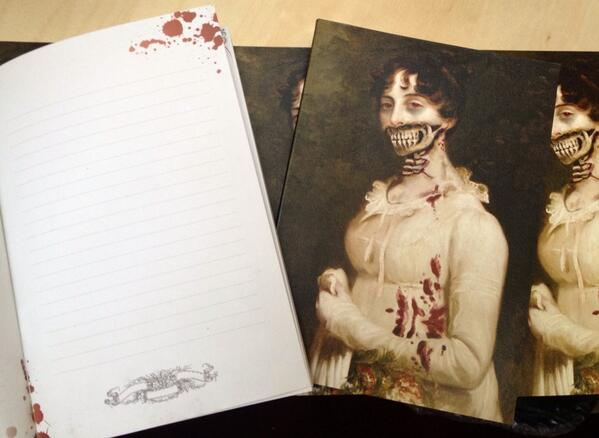 Giveaway! RT to win a Pride & Prejudice & Zombies notebook! We'll pick TEN of you at random. http://t.co/dSM9hSvJuX