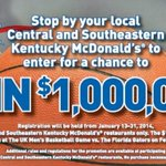 RT @UKIMGNetwork: #BBN, want a chance to win $1million? Head over to @McD_Lexington THIS MONTH to register! #UKMillionDollarShot http://t.c…