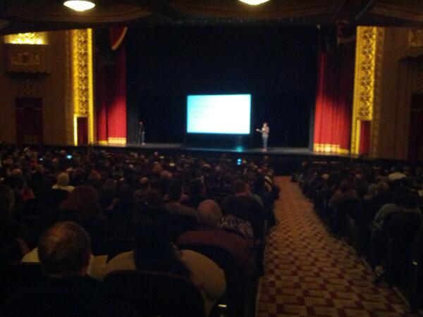 Seriously. A thousand people showed up to the @LaunchCodeSTL CS50 first class. #stl #programming http://t.co/KzTjX6g7Py