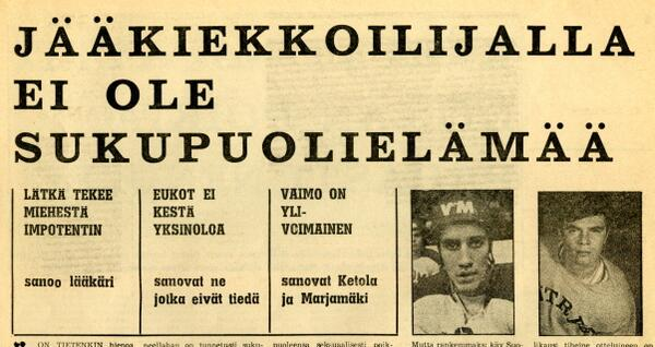 Otetaan tähän väliin tärkeä tiedonanto jääkiekkoilun maailmasta vudoelta 1971. Pitänee yhä paikkaansa. http://t.co/nExedXKP2B